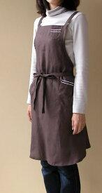 リネン ティーカップ フル エプロン ポケット付き レディス 日本製 麻 贈り物 ギフト 祝い 麻100% 母の日