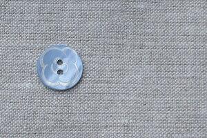 貝ボタン ブルーフラワー ハンドメイド 手作り【ホワイトデー 母の日】