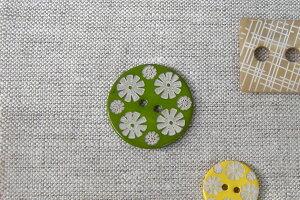 貝ボタン フラワーグリーン大 ハンドメイド 手作り【ホワイトデー 母の日】