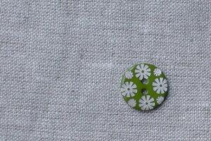 貝ボタン フラワー グリーン小 ハンドメイド 手作り【ホワイトデー 母の日】
