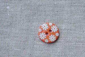 貝ボタン フラワー オレンジ小 ハンドメイド 手作り【ホワイトデー 母の日】
