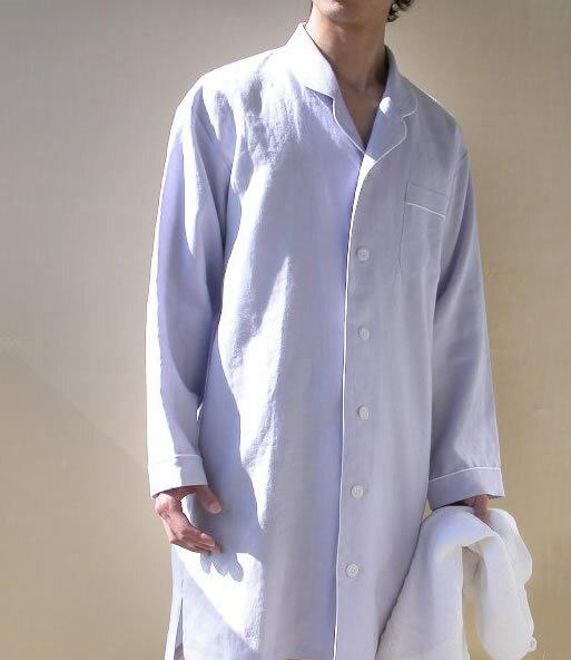 【送料無料】リネン スリーパー テーラードカラー メンズ ブルー 麻100%/ おすすめ