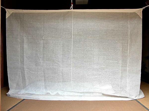 蚊帳 10畳 吊り下げ 綿 キナリ (3mx4m)【送料無料】日本製 かや デング熱 モスキートネット 大人 虫よけ 虫除け 害虫防止 安眠 快眠 カヤ エコ