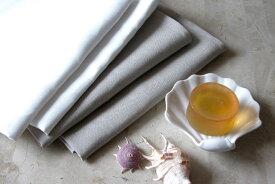 リネン 平織り フェイスタオル ヨーロッパスタイル ピコライン入り 日本製 高級 フレンチリネン 麻 100% 速乾 吸湿性