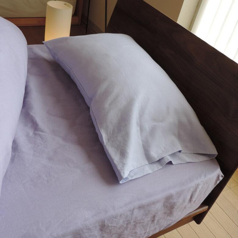 【お得なクーポン配布中】【ポイント最大12倍】 リネン 枕カバーピロケース 封筒式 クルール Mサイズ 43x63cm 日本製 高級 フレンチリネン safilin 麻 100% 速乾 吸湿性
