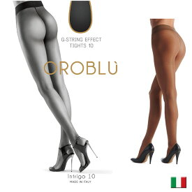 パンスト薄 パンストオールスルー OROBLU オロブル intrigo10インポート/シアータイツオールシーズン/つま先スルー/オールスルーコットンガゼット/イタリアストッキング/マチ付