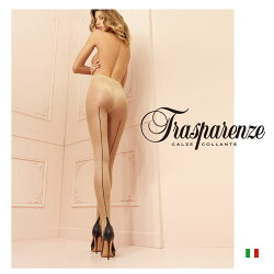 【Trasparenze(トラスパレンツェ)】Pennac20インポート柄物ガーターシアータイツ20デニール爪先フラット補強バックライン入りフェイクショーツ付き柄物シアータイツ