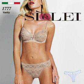 SIELEI/シェレイ Vanity-1(ヴァニティー) インポートランジェリーBASICコレクションベーシックカラー オールレース クリスタルチャーム2WAYストレッチブラジリアンショーツ