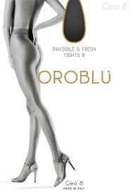 OROBLU【オロブル】geo8インポート/シアータイツオールシーズン/つま先スルー/オールスルーウルトラシアー/シアータイツ/イタリアストッキング