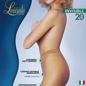 Levante レバンテ INVISIBLE20オールシーズン /ライクラファイバー/つま先スルーガードル付きシアータイツ