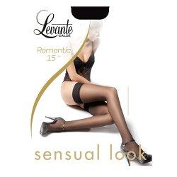 Levante【レバンテ】ROMANTIC15denソフトマットシリコンストッパー付きガーターストッキング
