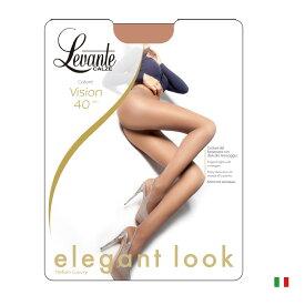 Levante レバンテVision(ヴィジョン)40インポートタイツサポートタイプコットンガゼット付きLYCRAファイバーつま先補強タイプ40デニールシアータイツ