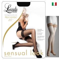 Levante【レバンテ】ROMANTIC20denソフトマットシリコンストッパー付きガーターストッキング
