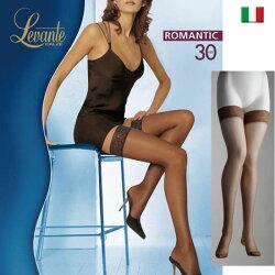 Levante【レバンテ】ROMANTIC30denソフトマットシリコンストッパー付きガーターストッキング