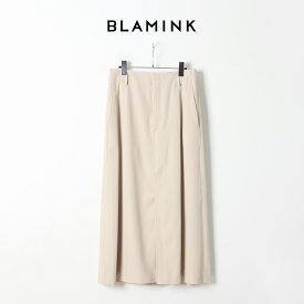 BLAMINK ブラミンク ウールコットン ロングトラペーズスカート 79242300136BEG{7924-230-0136-BEG-AIS}