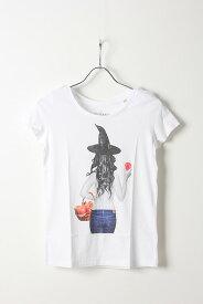 NO COMMENT PARIS ノーコメントパリ 【Japan Limited】T-SHIRT L-CREW witch apple{NC-TL.LTN147-WHT-AIS}