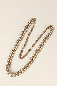 ▽アウトレットセール 60%OFFで8,580円→3,432円▽ Silver & Leather Loop-Chain{-}