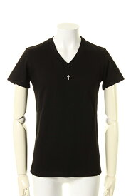 underbar アンダーバー 【underbar Limited】V-Neck S/S Silver Cross with Stones{-AGS}