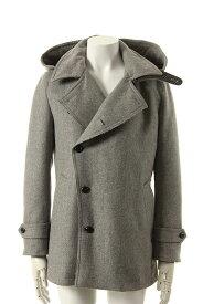 VADEL バデル cashmere melton vintage hooded pea coat{-AEA}