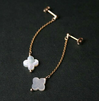 f72b5257a link-stone  Mother of Pearl (shell) earrings (flower) 14 KGF   natural  stone accessories