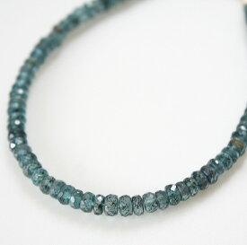 【再入荷】カイヤナイトのブレスレット(ディープブルー)14KGF/天然石ジュエリー・ゴールドフィルドアクセサリー・レアストーン