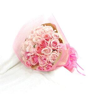 産地厳選バラ花束30本(ピンク) バラ 薔薇 薔薇の花束 バラの花束 ギフト プロポーズバラ バラ 開店祝い 誕生日 記念日 還暦祝い ばら バラ 薔薇