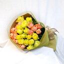 産地直送バラ花束・黄色オレンジ30本 バラの花束