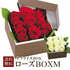 ローズBOXM(赤・白)ローズボックス ローズBOX 薔薇BOX バラボックス ギフトバスケット 開店祝い 誕生日 記念日 還暦祝い ギフト