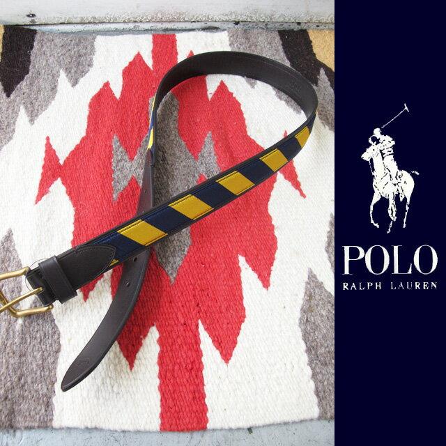 Polo Ralph Lauren(ポロ・ラルフローレン)ラグビーストライプベルト【新品未使用】【メンズ】