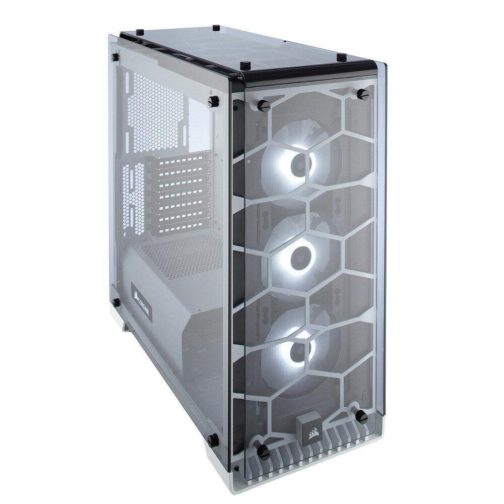 CORSAIR RGBファン標準搭載 強化ガラス採用 ATX対応ミドルタワーPCケース 570X RGB WHITE (CC-9011110-WW) ホワイト