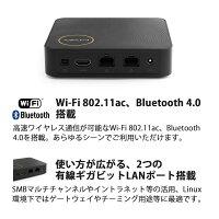 ECSWindows10Home搭載ApolloLake世代の小型デスクトップパソコンLIVAZ-4/120-W10(N4200)TSメモリ:4GBストレージ:32GB+120GB