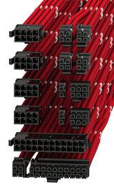 LINKUP 電源専用 スリーブカスタムPSUケーブル延長セット GPUパワー 24ピン8ピン6ピンセット 500mm