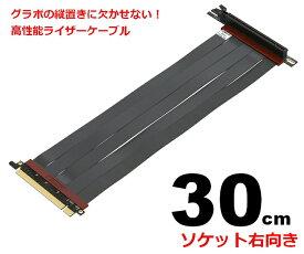LINKUP ライザーケーブル PCI Express4.0(3.0互換)30cm 90度ソケット 折り曲げ可能