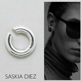 【SASKIA DIEZ サスキア ディツ】ファッショニスタが大注目!SILVER BASIC BOLD EAR CUFF イヤーカフ シルバー