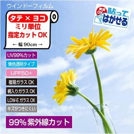 ぴったりカットミリ単位オーダーカットUVカットフィルムUV99%カットUV波長域300〜380nmカットすっきりクリアタイプ使用後はがせるRT05日本製