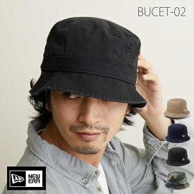 ニューエラ ハット newera バケットハット BUCKET-02 ウォッシュド コットン NEW ERA 帽子 バケット 深め メンズ レディース つば短い 帽子 綿【楽ギフ_包装】