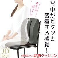 [お医者さんの(R)姿勢クッション](姿勢矯正椅子オフィス背もたれ椅子クッション背筋座椅子背中クッション腰痛低反発クッション)