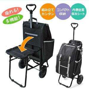 シャルミス ショッピングカート椅子付き 15-5032 ショッピングカート 椅子付き 多機能 コンパクト 保冷シート 傘ホルダー付き CHARMISS タイヤ取り外し可能
