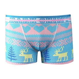 DARK SHINY Men's Boxer Pants-Nordic Blue(ボクサーパンツ 下着 メンズ 下着 レディース インナー アンダーウェア おしゃれ オシャレ パンツ アンダーウェア)プレゼント用父の日 プレゼント用 6/16