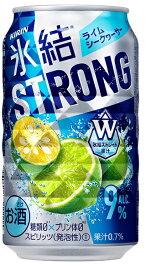 キリン 氷結 STRONG ストロング ライムシークヮーサー 350ml×24本/1ケース【ご注文は2ケースまで1個口配送可能】