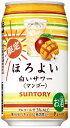 サントリー ほろよい 白いサワーマンゴー 350ml×24本/1ケース【ご注文は2ケースまで1個口配送可能】