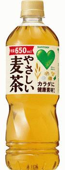 サントリー GREEN DA・KA・RA(グリーンダカラ) やさしい麦茶 650ml×24本(1ケース)【ご注文は2ケースまで同梱可能です】