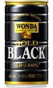 【3ケースまで1個口配送に変更】アサヒ ワンダ ゴールドブラック 金の無糖 185ml×30本(1ケース)【ご注文は3ケースまで同梱可能です】