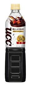 【送料無料】UCC 上島珈琲 職人の珈琲 ミルクに最適 930ml×12本/1ケース