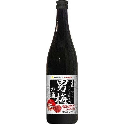 【送料無料】【ケース販売】サッポロ 男梅の酒 720ml×12本【北海道・沖縄県は対象外となります。】