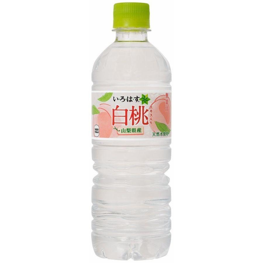 コカ・コーラ い・ろ・は・す 白桃 555ml×24本(1ケース)【ご注文は2ケースまで同梱可能です】