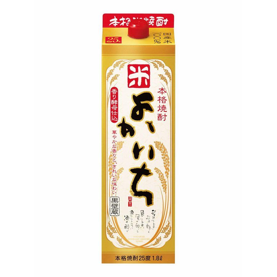 【送料無料】宝酒造 よかいち 米 25度 パック 1.8×6本【北海道・沖縄県・離島は対象外となります】