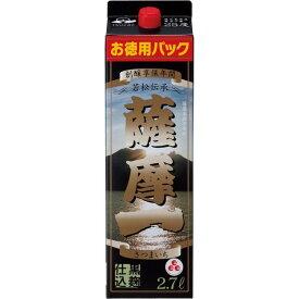 【あす楽】 【送料無料】若松酒造 薩摩一 芋 25度 2700ml(2.7L)×4本【北海道・沖縄県・東北・四国・九州地方は必ず送料が掛かります。】