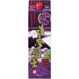 【送料無料】濱田酒造 紫 薩摩富士 芋 25度 パック 1800ml 1.8L×12本【北海道・沖縄県・東北・四国・九州地方は必ず送料が掛かります。】