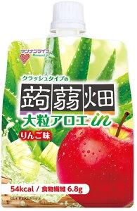 【送料無料】マンナンライフ 大粒アロエin クラッシュタイプの蒟蒻畑 りんご味 150g×6個入×4箱【北海道・東北・四国・九州・沖縄県は必ず送料がかかります】